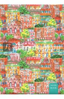 Книга для записей, 80 листов, А 5-, Красочный город (КЗБ 5802383)