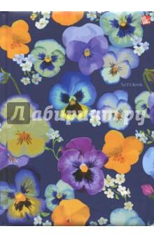 Книга для записей, 80 листов, А5 Цветы. Виолы (КЗЛ5802038) записные книжки канц эксмо книга для записей с поролоном 80 листов орнамент разноцветные зонтики