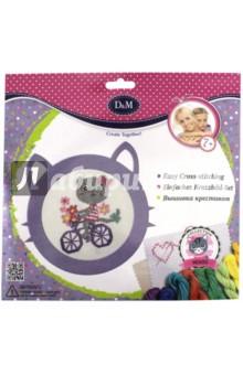 Набор для вышивания крестиком Котятки фиолетовый (66034) набор для детского творчества набор д вышивания equestria girls