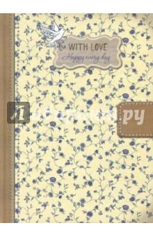 Блокнот With love, А5 блокноты booratino деревянный блокнот а5