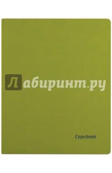 Тетрадь 80 листов, А4, мягкая, САЛАТОВЫЙ+СИНИЙ СРЕЗ, (45364)
