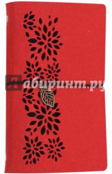Записная книжка 80 листов, А6+, КРАСНЫЙ, фетр (45372) феникс записная книжка ноутбук фламинго 80 листов