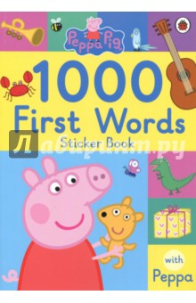 Peppa Pig. 1000 First Words Sticker Book пазл origami peppa pig транспорт 4 в 1
