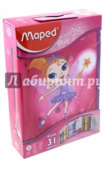 Пенал с наполнением для детей Fairy (32 предмета) (967812) точилка пластиковая maped stop signal одно отверстие с контейнером