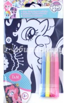 Купить Бархатная раскраска My little pony. Пинки Пай (66779), D&M, Создаем и раскрашиваем картину