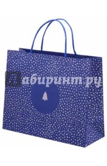 Zakazat.ru: Пакет подарочный, 32х12х26, ЕЛКА НА СИНЕМ (45565).