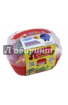 Масса для лепки в чемоданчике с формочками (6 цветов) (67848) масса для лепки candy clay набор круассан