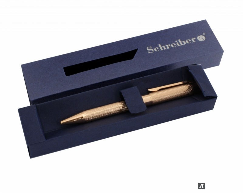 Ручка шариковая металлическая в футляре, СИНИЕ чернила, цвет корпуса бронза, арт S 2809
