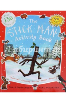 Stick Man. Activity Book spot dobble find it board game for children fun with family gathering the animals paper quality card