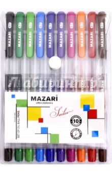 Набор шариковых ручек Sailor (10 цветов, чернила на масляной основе) (М-5700-10) набор шариковых ручек автоматическая