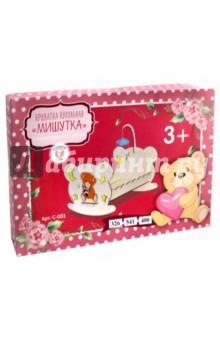 Купить Кроватка кукольная Мишутка (54 см) (С-001), Большой слон, Сборные 3D модели из дерева неокрашенные макси