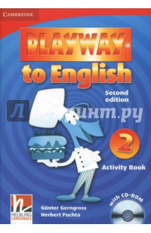 Playway to English Level 2 Activity Book with CD-ROM playway to english level 1 dvd