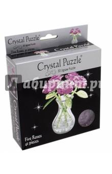 3D головоломка Букет в вазе розовый (90252) пазлы crystal puzzle 3d головоломка вулкан 40 деталей