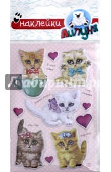 Купить Яркие наклейки Кошки и предметы 2 (WPS08), Липуня, Наклейки детские