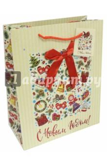 Пакет бумажный 26х32.4х12.7 см Калейдоскоп (75375) пакет подарочный феникс презент шары 26 х 13 х 33 см