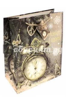Пакет бумажный 26х32.4х12.7см Часы-ретро (75361) пакет феникс бумажный с тиснением старые карты 12 7 36 8 3см 40890