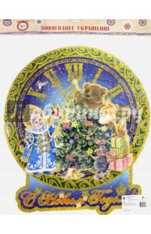 Украшение новогоднее Снегурочка и медвежонок (75164) новогоднее оконное украшение феникс презент обезьянки