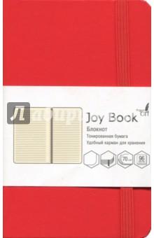 Блокнот Joy Book (96 листов, А6-, искусственная кожа, твердый переплет, темно-алый) (БДБЛ6962235) антихайп красный блокнот твердый переплет 160x243