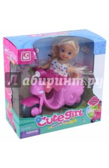 Кукла с мото, и аксессуарами в коробке (MX0111308) tongde интерактивная обучающая кукла умняша в розовой шубке с планшетом