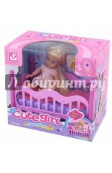 Кукла с кроватью и аксессуарами в коробке (MX0111312) tongde интерактивная обучающая кукла умняша в розовой шубке с планшетом