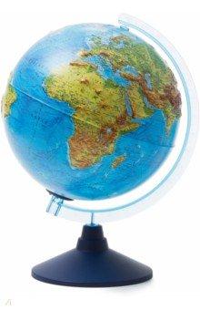 Глобус Земли физико-политический (d=250 мм, рельефный, с подсветкой) (Ве022500261)