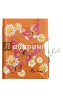 Записная книжка Бабочки (линия, 48 листов, замок) (45476) феникс записная книжка радужные бабочки