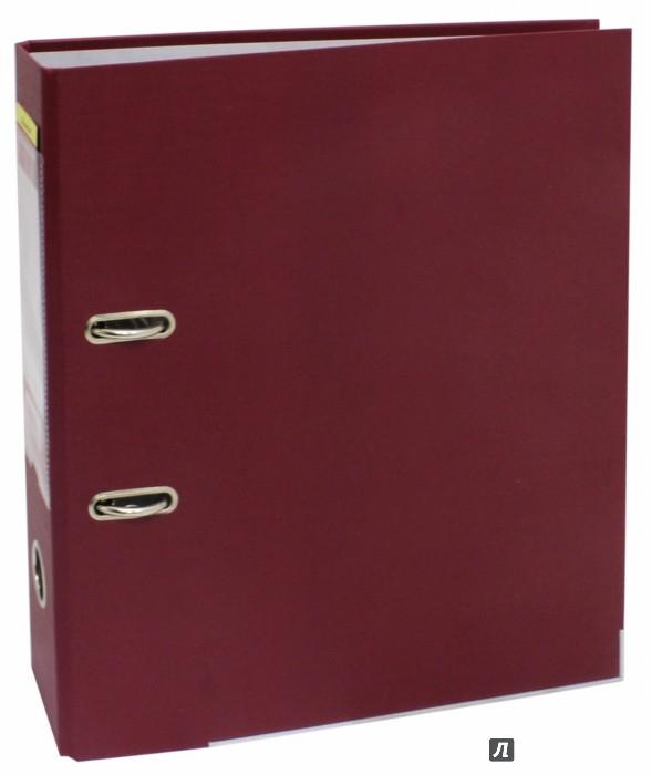 Иллюстрация 1 из 5 для Папка-регистратор (A4, 75 мм, бордовый) (355021-27) | Лабиринт - канцтовы. Источник: Лабиринт