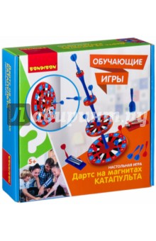 Купить Игра настольная Катапульта. Дартс на магнитах (ВВ2412), BONDIBON, Игры для активного отдыха