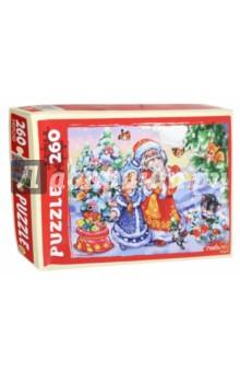 Купить Пазл Дед Мороз и Снегурочка (260 элементов) (П260-9895), Рыжий Кот, Пазлы (200-360 элементов)