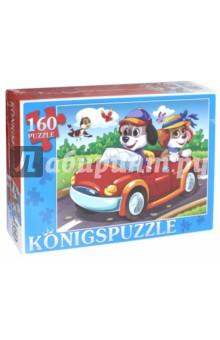 Купить Пазл Щенки в автомобиле (160 элементов) (ПК160-5848), Konigspuzzle, Пазлы (100-170 элементов)