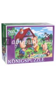Купить Пазл Три поросенка (260 элементов) (ПК260-5869), Konigspuzzle, Пазлы (15-50 элементов)