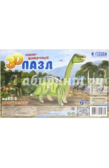 Купить Бронтозавр. 3D пазл деревянный для детей, Геодом, Объемные пазлы