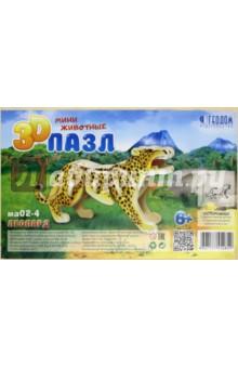 Купить Леопард. 3D пазл деревянный, Геодом, Объемные пазлы