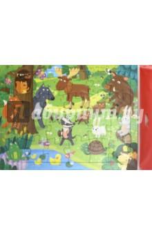 Купить Пазл Лесные животные , 24 детали, Геодом, Пазлы (15-50 элементов)