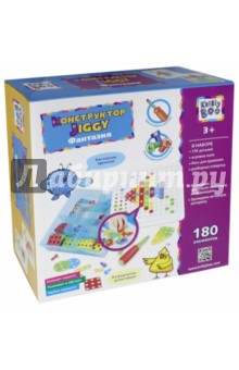 Купить Конструктор отверточный Jiggy Фантазия , 180 элементов (67547), KriBly Boo, Конструкторы из пластмассы и мягкого пластика