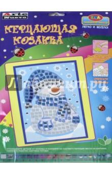 Мерцающая мозаика Снеговик (DT-1027 NY-5) мерцающая мозаика на самоклеящейся основе заяц авиатор с1573 19