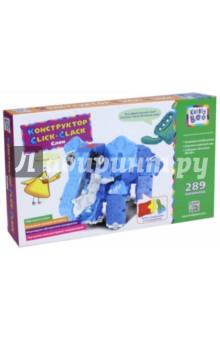 Купить Конструктор Click-Clack, Слон, 289 элементов (67788), KriBly Boo, Конструкторы из пластмассы и мягкого пластика