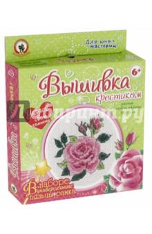 Вышивка с пяльцами Розочка (04805) вышивка русский стиль бабочка с пяльцами