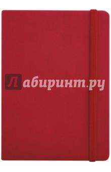 Записная книга на резинке, 96 листов, 145*205 КРАСНЫЙ (45736) блокнот на греческом побережье на резинке а5
