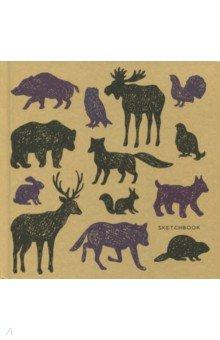 Скетчбук Животные (80 листов, 195х195 мм) (СК5804620) скетчбук цветные мишки 80 листов 195х195 мм спираль тс5804483