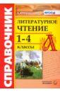 Обложка Литературное чтение 1-4кл. Справочник
