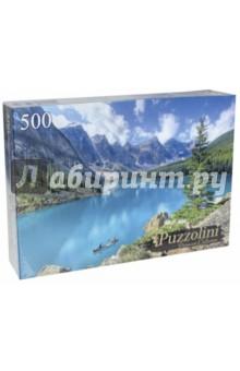 Puzzle-500 Лодка на озере Морейн (GIPZ500-7681) пазлы crystal puzzle 3d головоломка вулкан 40 деталей