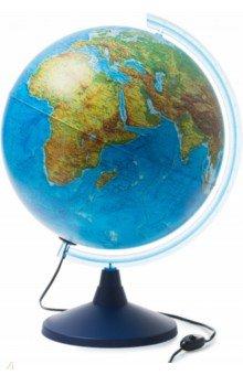 Глобус Земли физико-политический, с подсветкой (d=400) (Ке014000246).
