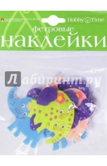 """Декоративные наклейки из фетра """"СЛОНИКИ"""" (2-093/12)"""