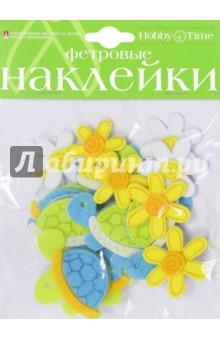 Декорат��вные наклейки из фетра ЧЕРЕПАШКИ (2-093/14) чехол для карточек авокадо дк2017 093