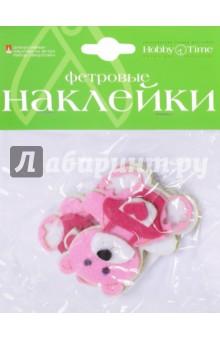 Декоративные наклейки из фетра ЗВЕРУШКИ 4 вида (2-093/22) чехол для карточек авокадо дк2017 093