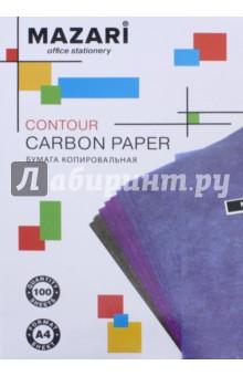 Бумага копировальная (черная, 100 листов, А4) (М-5691)
