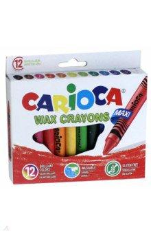 Набор восковых мелков, 12 цветов WAX CRAYONS MAXI (42369) набор восковых мелков 12 цветов wax crayons 42365