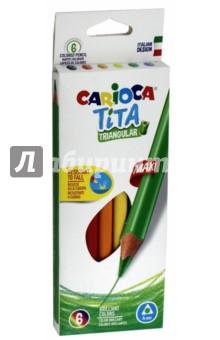 Набор пластиковых карандашей 6 цветов Tita Maxi (42790)