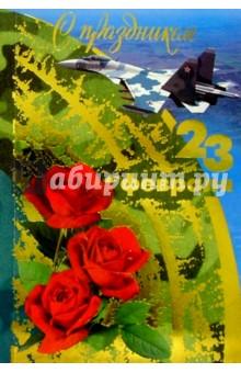 F4-024/23 февраля/открытка двойная.